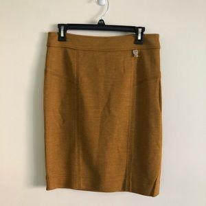 Tory burch yellow knit pencil short skirt S